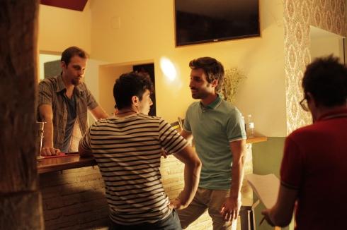 Jorge de Guillae rodando junto a Alberto Campón y Aarón García Sampedro
