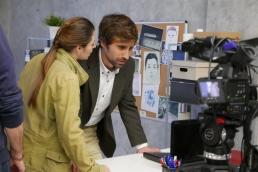 Jorge de Guillae rodando junto a Helena Diez